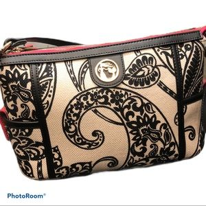Spartina 449 | Paisley Linen & leather purse
